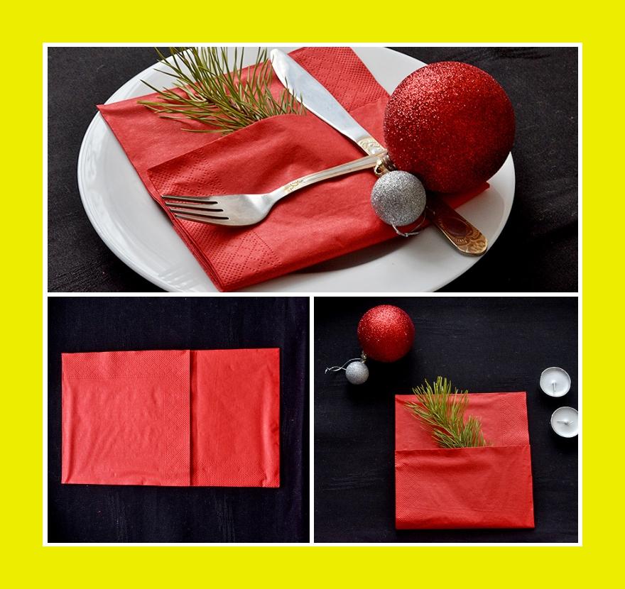 Einfach Servietten falten Silvester Weihnachten Videofaltanleitung