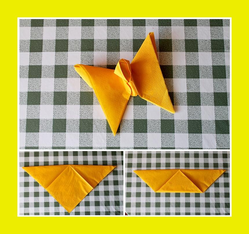 Favorit Servietten falten: Schmetterling – Servietten YD02