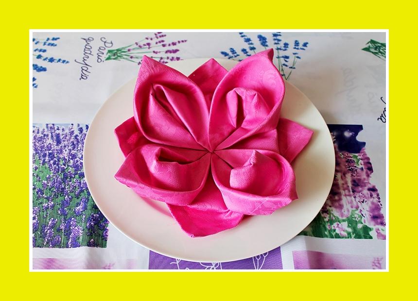 Lotusblute Serviettendeko Tischdeko Serviette falten