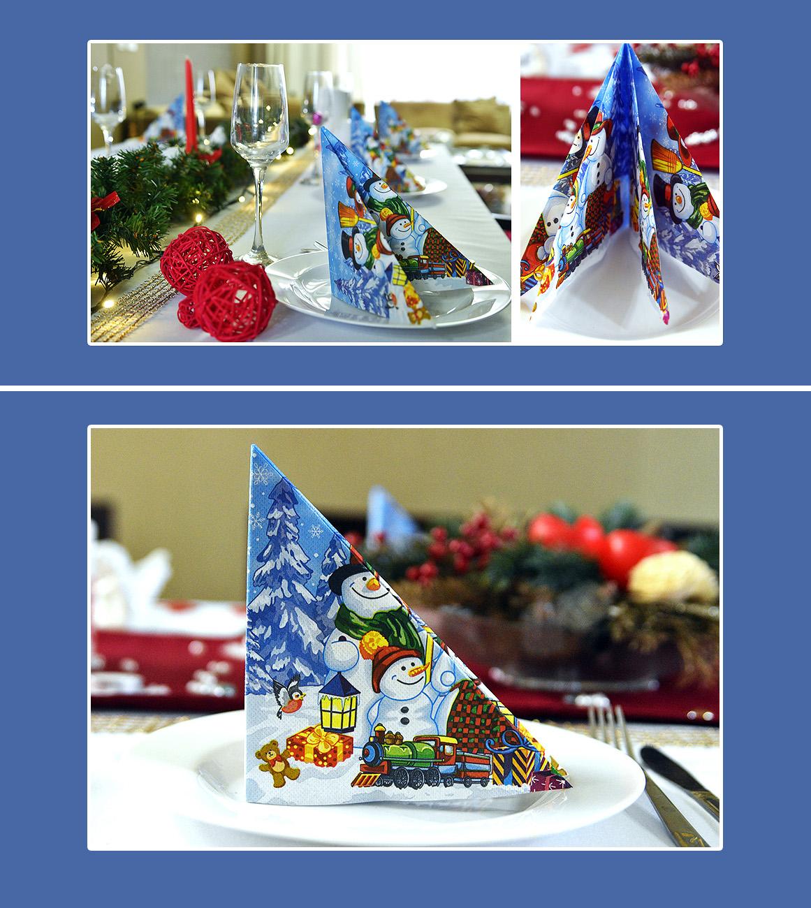 Serviette falten Weihnachten Silvester