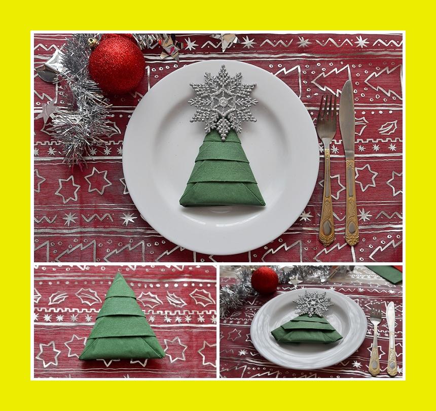 Servietten falten Silvester Weihnachten