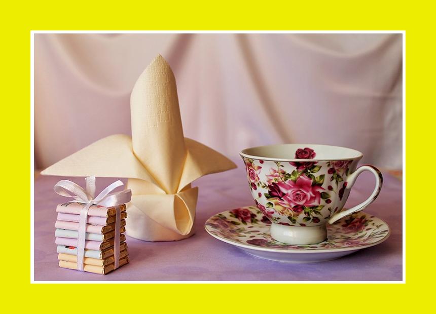 Servietten falten Tischdeko Lilie Banane