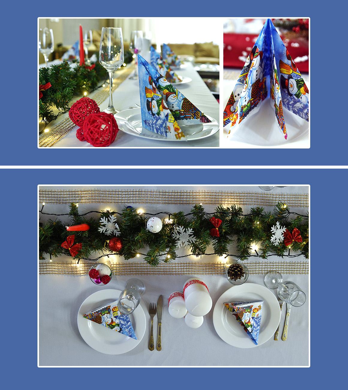 Servietten Weihnachten Tisch