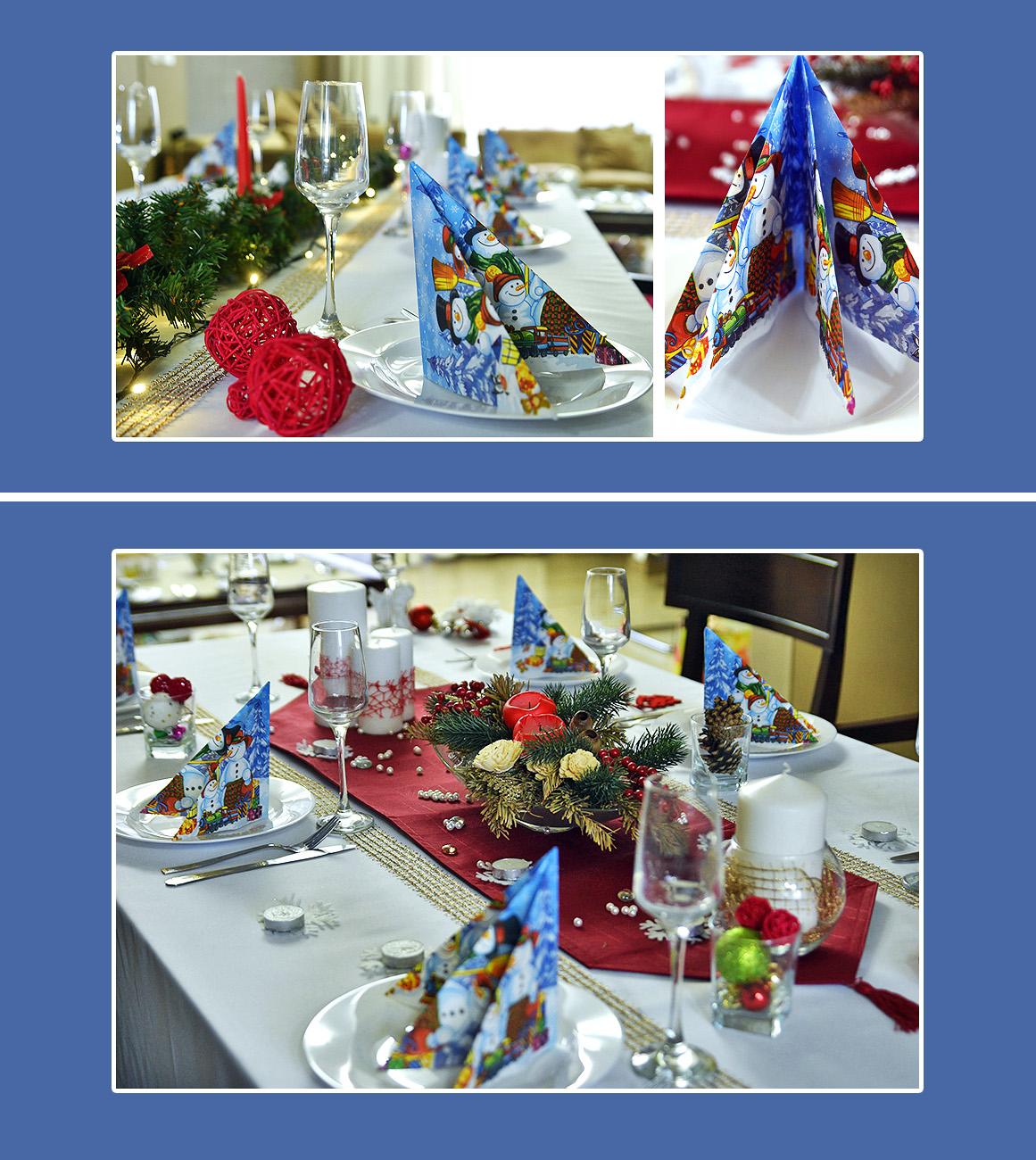 Tischdeko Servietten Weihnachten