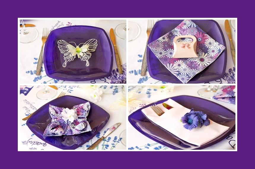 Deko Idee Hochzeit Serviettendeko Schmetterling