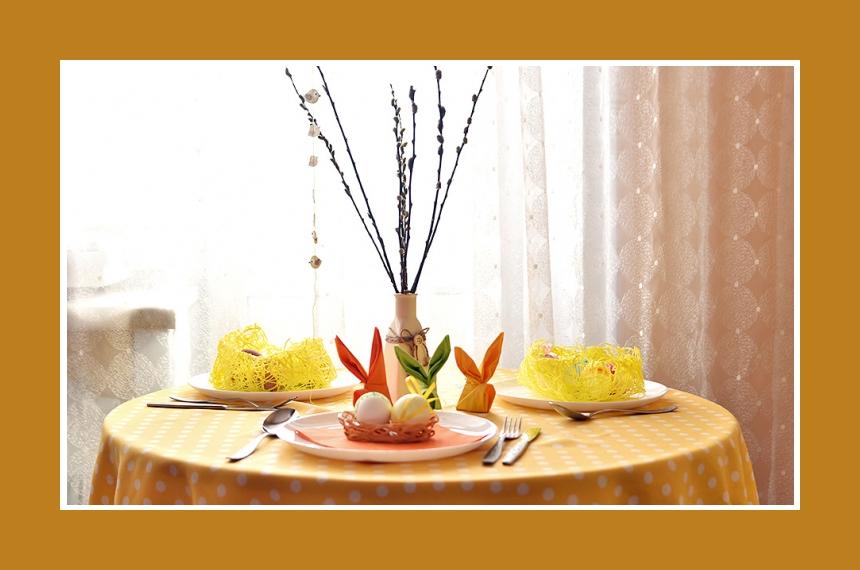 Deko Idee Ostern Weide Tischdeko