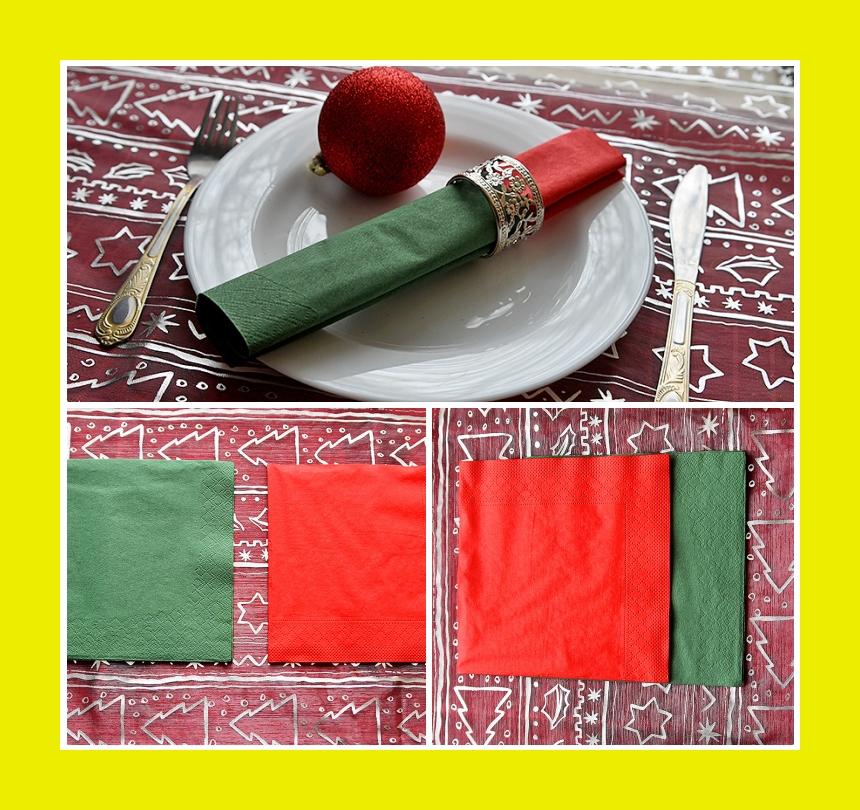 Faltanleitung Serviette für Silvester zweifarbige Rolle