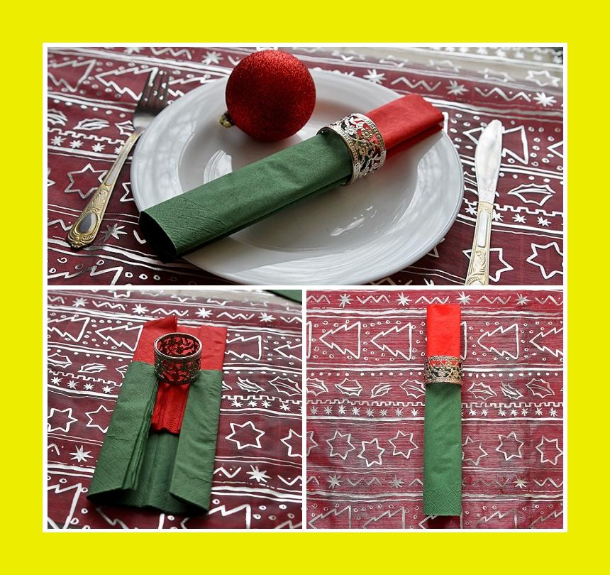 Servietten falten Tischdeko für Silvester Rolle