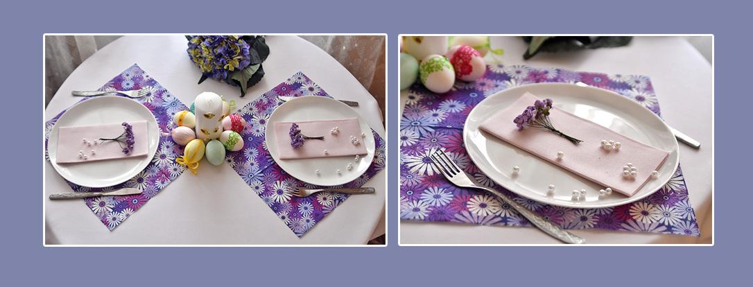 Servietten Ostern lila