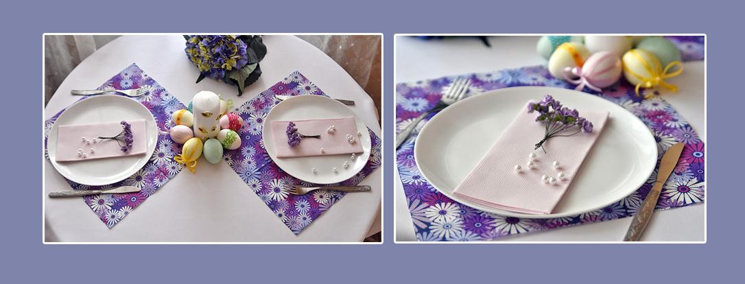 Servietten Ostern Tischset
