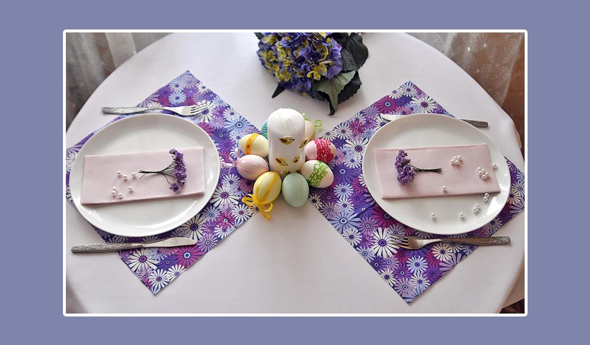 Tischdeko Osternest Servietten